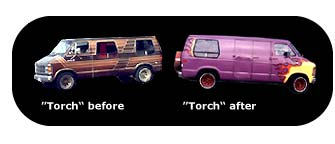 Torch before and after